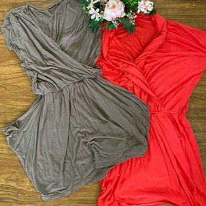 Eddie Bauer Dress Lot Of 2 SZ Medium Short Cotton
